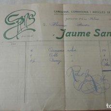 Facturas antiguas: ANTIGUA FACTURA.JAUME SANS.CAMISERIA.CORBATERIA.BARCELONA 1919. Lote 194234576