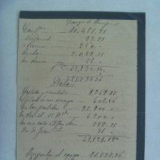 Facturas antiguas: FACTURA MANUSCRITA DEL SIGLO XIX , EN PAPEL DE LUTO. Lote 194573326