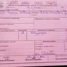 Facturas antiguas: FACTURA ALBARAN DE TRANSPORTES VALLEJO AÑO 1971. Lote 194741143