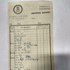 Facturas antiguas: ANTIGUA FACTURA DE COLEGIO SAN JOSÉ P.P. ESCOLAPIOS DE SANTANDER.AÑOS 60. Lote 194750061