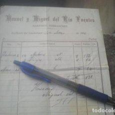 Facturas antiguas: CABALLOS - MANUEL Y MIGUEL DEL RÍO FUENTES - MAESTROS HERRADORES - SORIHUELA, JAÉN, 1956 - FACTURA . Lote 194778133