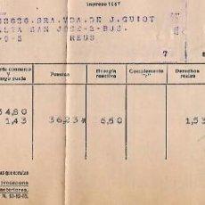 Facturas antiguas: REUS - 3 RECIBOS AÑO 1956 DE FUERZAS ELECTRICAS DE CATALUÑA - VER FOTOS. Lote 194885878