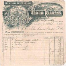 Facturas antiguas: ANTIGUA FACTURA .FABRICA DE GÉNEROS DE PUNTO.PEDRO CLARÉNS. BARCELONA AÑO 1925. Lote 195102558
