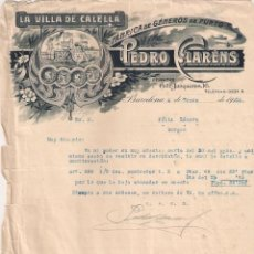 Facturas antiguas: ANTIGUA FACTURA TEXTIL. LA VILLA DE CALELLA. PEDRO CLARENS. BARCELONA .AÑO 1925. Lote 195138077