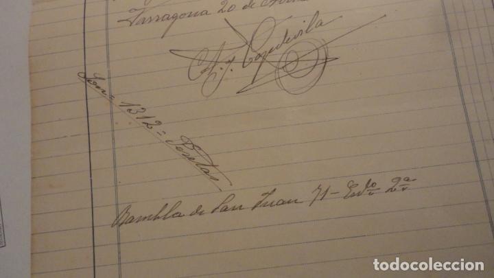 Facturas antiguas: ANTIGUA FACTURA.ANDRES J.CAPDEVILA.AGENCIA POMPAS FUNEBRES.TARRAGONA 1923. - Foto 3 - 195253030