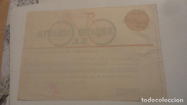 Facturas antiguas: ANTIGUO RECIBO DE PAGO.CREDITO CICLISTA S.A.MOTO DERBI.BARCELONA 1952. JOSE SOLE COTS. - Foto 2 - 195254287