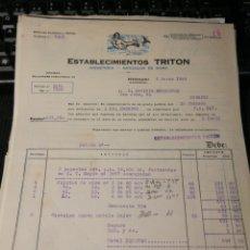 Facturas antiguas: ESTABECIMIENTOS TRITON. JUGUETES. HERNANI. GUIPÚZCOA 1944. Lote 195334492