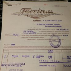 Facturas antiguas: FERRIN. REDONDELA. PONTEVEDRA. 1944.. Lote 195334591