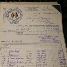 Facturas antiguas: MANUEL DE JESUS GARCÍA. FABRICA DE JUGUETES. DENIA. 1933. Lote 195334968