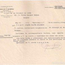 Fatture antiche: FACTURA ANTIGUA. HIJOS DE M. GUTIERREZ. ALMACENES DE TEJIDOS. VALLADOLID BURGOS. AÑO 1926. Lote 195433287