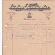 Facturas antiguas: FACTURA. ISIDORO FERNÁNDEZ. FÁBRICA DE JUGUETES. BARCELONA 1932. Lote 195440703