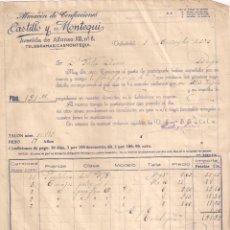Fatture antiche: FACTURA. ALMACENES DE CONFECCIONES. CASTILLO Y MONTEQUI. VALLADOLID-BURGOS.AÑO 1924. Lote 195655840