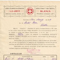 Facturas antiguas: FACTURA FABRICA DE CERVEZAS CERVEZA DE SANTANDER. LA CRUZ BLANCA 1919. Lote 195765807