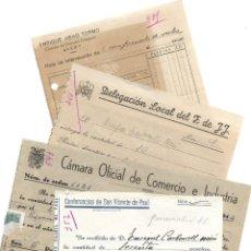 Facturas antiguas: ALCOY (ALICANTE) LOTE 4 RECIBOS VARIOS SAN VICENTE DE PAUL, FRENTE DE JUVENTUDES,.. AÑOS 40. Lote 196796031