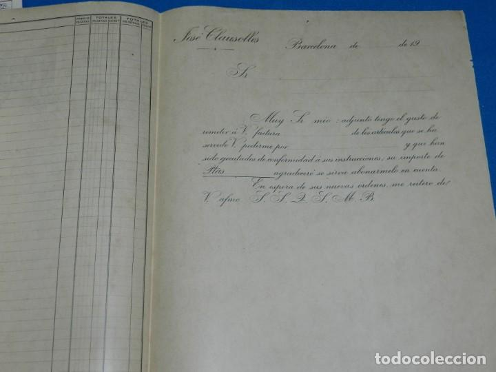 Facturas antiguas: (M2) FACTURA MEMBRETE - BARCELONA 1900 FABRICA DE ARTICULOS DE ORTOPEDIA Y CIRUJIA JOSE CLAUSOLLES - Foto 2 - 196992803