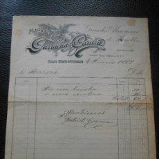 Faturas antigas: FACTURA DE SAN SEBASTIAN EL AGUILA GURRUCHAGA CARASA MUEBLES 1917. Lote 197042067