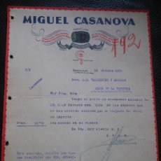 Facturas antiguas: FACTURA DE BARCELONA MIGUEL CASANOVA COLA HOZ PINTORES PINTURA A JEREZ VALDESPINO 1926 SICHEL LEIM. Lote 197733810