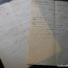 Facturas antiguas: FACTURA DE BARCELONA SUCESORES DE RECASENS MONTEYS PLANAS Y CAMPMANY 2 MODELOS CON VARIANTE 1900-02. Lote 197830116