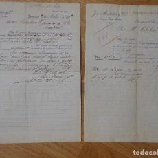 Facturas antiguas: FACTURA DE ZARAGOZA ANTIGUA CASA FORTEA JOSE MONTAÑES 1902 MADRID - 2 MODELOS CON VARIANTE. Lote 197861110