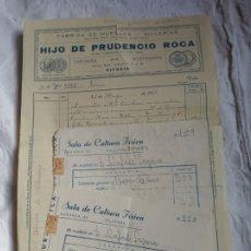 Facturas antiguas: LOTE FACTURAS ANTIGUAS VARIADAS. GUERRA CIVIL.MUEBLES.COMERCIOS.GIMNASIO.. Lote 197889487
