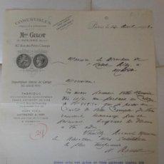 Facturas antiguas: FACTURA DE PARIS FRANCIA AL HOTEL RITZ DE MADRID - COMESTIBLES GILOT CAVIAR VINOS 1915. Lote 198802363