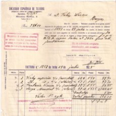Facturas antiguas: FACTURA. SOCIEDAD ESPAÑOLA DE TEJIDOS. BARCELONA- BURGOS . AÑO 1925. Lote 199077831
