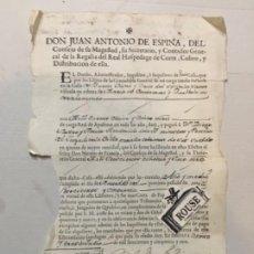 Facturas antiguas: MADRID 1750 CARTA DE PAGO ADMINISTADOR C. BUENA VISTA Y CRUZ DEL ESPÍRITU SANTO - DON JUAN ANTONIO D. Lote 199148183
