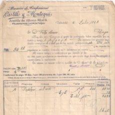Fatture antiche: FACTURA. ALMACÉN DE CONFECCIONES, CASTILLO Y MONTEQUI. VALLADOLID- BURGOS. AÑO 1929. Lote 199333176