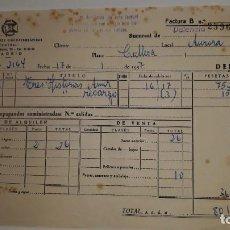 Facturas antiguas: DISTRIBUCIONES CINE MADRID 1957 MARCA SUEVIA FILMS CESAREO GONZÁLEZ PELI TRES HISTORIAS AMOR VALENCI. Lote 200377966