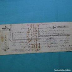 Facturas antiguas: RECIBO DE BAGAGES.GERONA 1867.GARANGER Y SUROS.JAIME ORPINA.. Lote 200645317