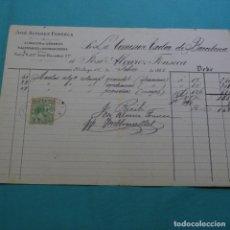 Facturas antiguas: FACTURA DE JOSÉ ALVAREZ FONSECA.1885.CON TIMBRE MOVIL.. Lote 200869920