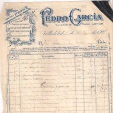 Fatture antiche: FACTURA. ALMACENES. BORDADOS,PUNTILLAS. PEDRO GARCIA. VALLADOLID- BURGOS. AÑO 1928. Lote 201686380