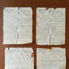Facturas antiguas: GRAN FACTURA 1924 CARPINTERÍA EBANISTERÍA MANUEL MADROÑERO AZAGRA NAVARRA AGRICULTURA LABRANZA. Lote 201753153