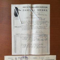Facturas antiguas: FACTURA 1930 PASCUAL SIERRA MONZON ABARCAS CALZADO. Lote 201757265