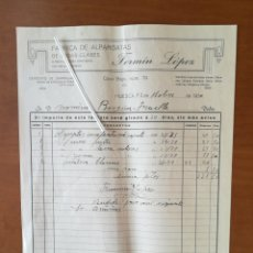 Facturas antiguas: FACTURA 1930 FERMIN LOPEZ HUESCA FABRICA ALPARGATAS. Lote 201769567