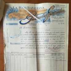Facturas antiguas: FACTURA SALVADOR GONZÁLEZ LA FLOR BAÑEZANA 1930 ALUBIAS BLANCAS. Lote 201784541