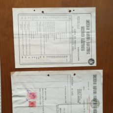 Facturas antiguas: FACTURA TARIFA SAIME RADIOTELEFONIA BARCELONA 1947. Lote 201919955