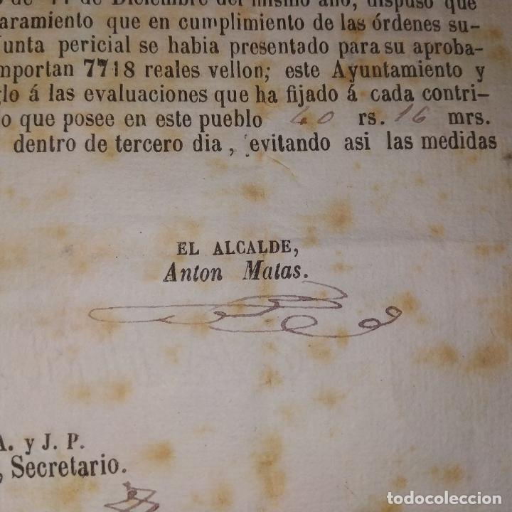 Facturas antiguas: DOCUMENTO DE CONTRIBUCIÓN. PARA ALEJANDRO GASSER. SAN GERVASIO. CATALUNYA. ESPAÑA 1852 - Foto 4 - 202949356