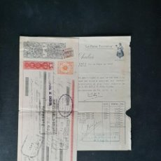 Facturas antiguas: LA FAMA TORRENTINA FABRICA DE CHOCOLATES DE FRANCISCO CHULIA TORRENTE 1952 VALENCIA. Lote 204628253
