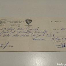 Facturas antiguas: MICHELÍN RECIBO 1974. Lote 205454502