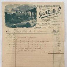 Faturas antigas: TALLERES DE CONSTRUCCIÓN Y REPARACIÓN DE CALDERAS DE VAPOR. BARCELONA, 1903. 27 X 21 CM.. Lote 205772156