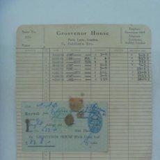 Facturas antiguas: FACTURA DEL HOTEL GROSVENOR HOUSE DELONDRES, 1953. DE UN INDUSTRIAL DE SEVILLA. Lote 207260771