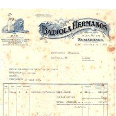 Factures anciennes: FACTURA COMERCIAL FABRICA DE PEINES BADIOLA HERMANOS. ZUMARRAGA. GUIPUZCOA. AÑO 1950. Lote 208477820