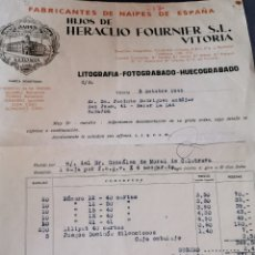 Facturas antiguas: ERA LÍO FOURNIER. 1945.. Lote 209952042