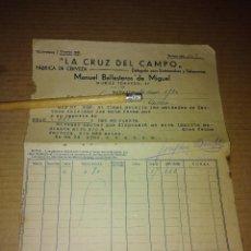 Facturas antiguas: FACTURA BADAJOZ MANUEL BALLESTEROS LA CRUZ DEL CAMPO CRUZCAMPO CERVEZA 1930. Lote 210189466
