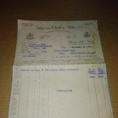 Facturas antiguas: FACTURA FABRICA SANTOÑA SANTANDER VIGO CONSERVA CARLOS ALBO 1935. Lote 210194573