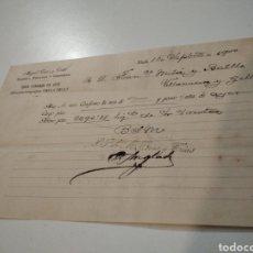 Facturas antiguas: MIGUEL TRIAS Y TRIAS, BANQUERO, FABRICANTE I COMERCIANTE 1900. Lote 210255500