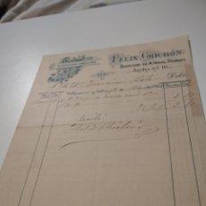 Facturas antiguas: ALPARGATERIA Y CORDELERIA FÉLIX CHICHON 1904. Lote 210255645