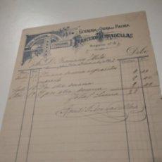 Facturas antiguas: FRANCISCO TARRADELLAS 1902 FACTURA VILLANUEVA Y GELTRÚ. Lote 210255855