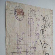 Facturas antiguas: ANDRÉS XICOLA CUBRIDOR DE CILINDROS FACTURA 1906. Lote 210268725